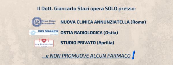 Il dott Giancarlo Stazi non promuove alcun farmaco